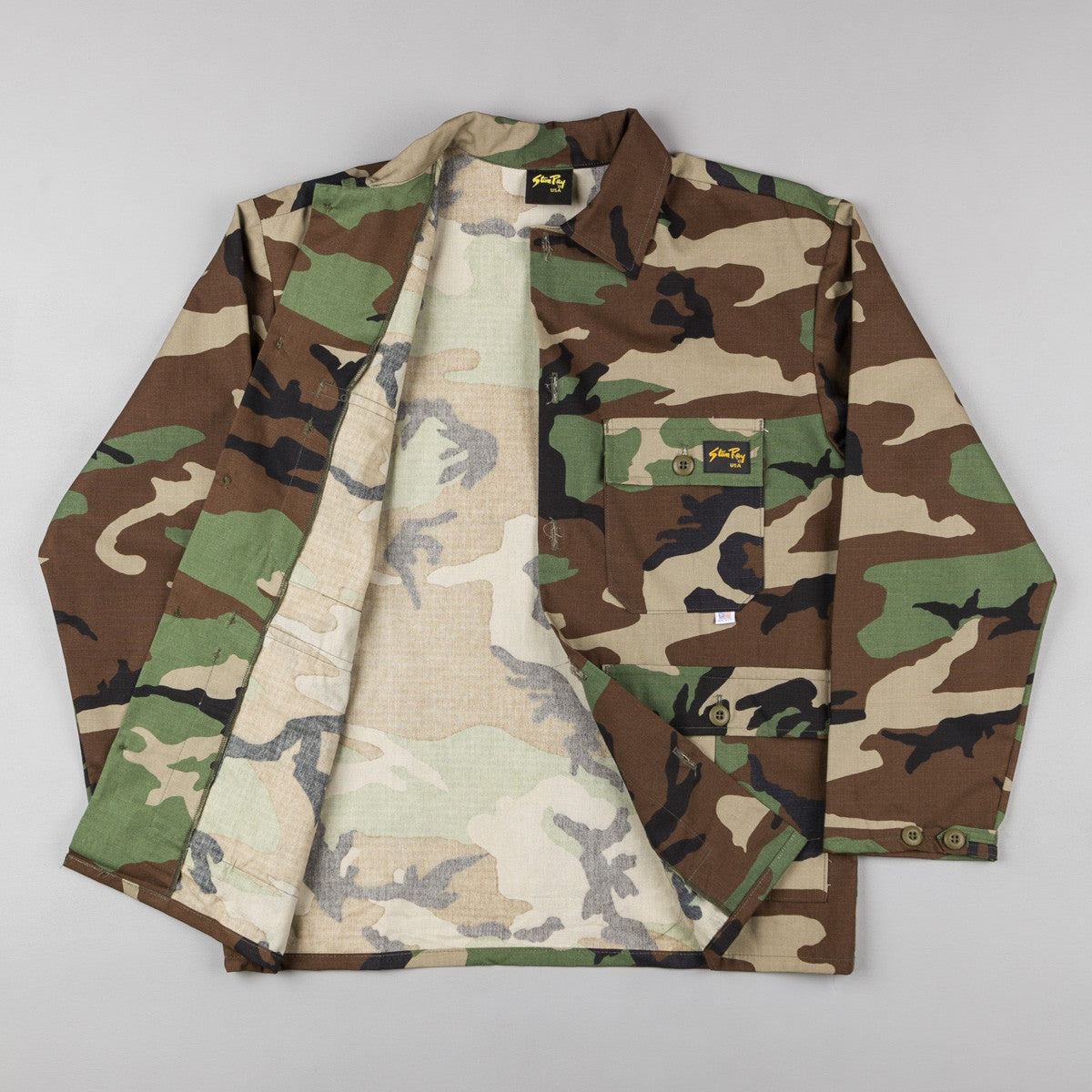 Stan Ray 4 Pocket Jacket - Woodland Camo