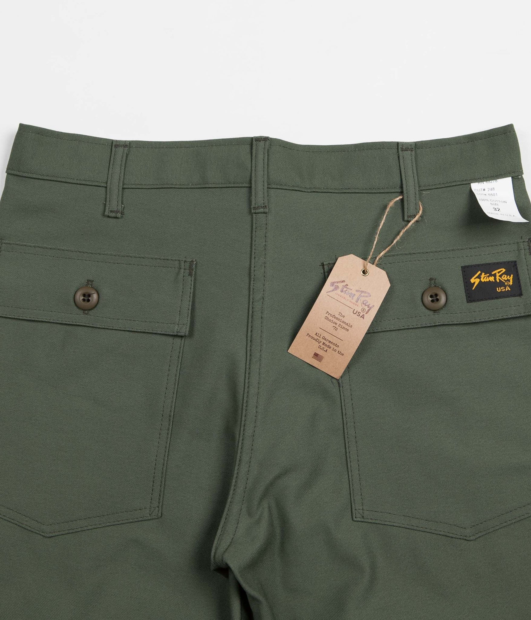 Stan Ray 4 Pocket Shorts - Olive Sateen