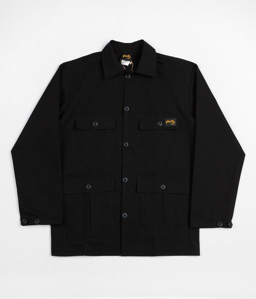 Stan Ray Four Pocket Military Jacket - Black Ripstop