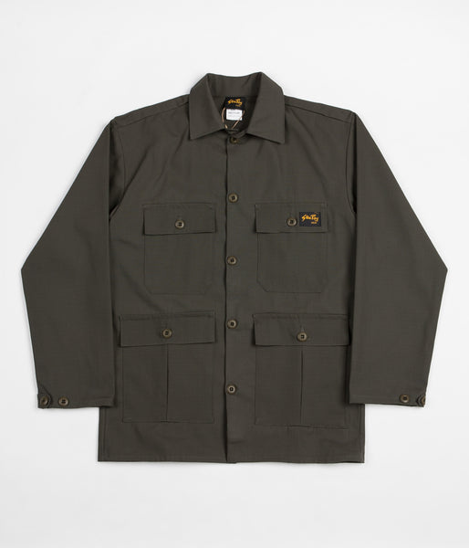 Stan Ray Four Pocket Military Jacket - Olive Ripstop