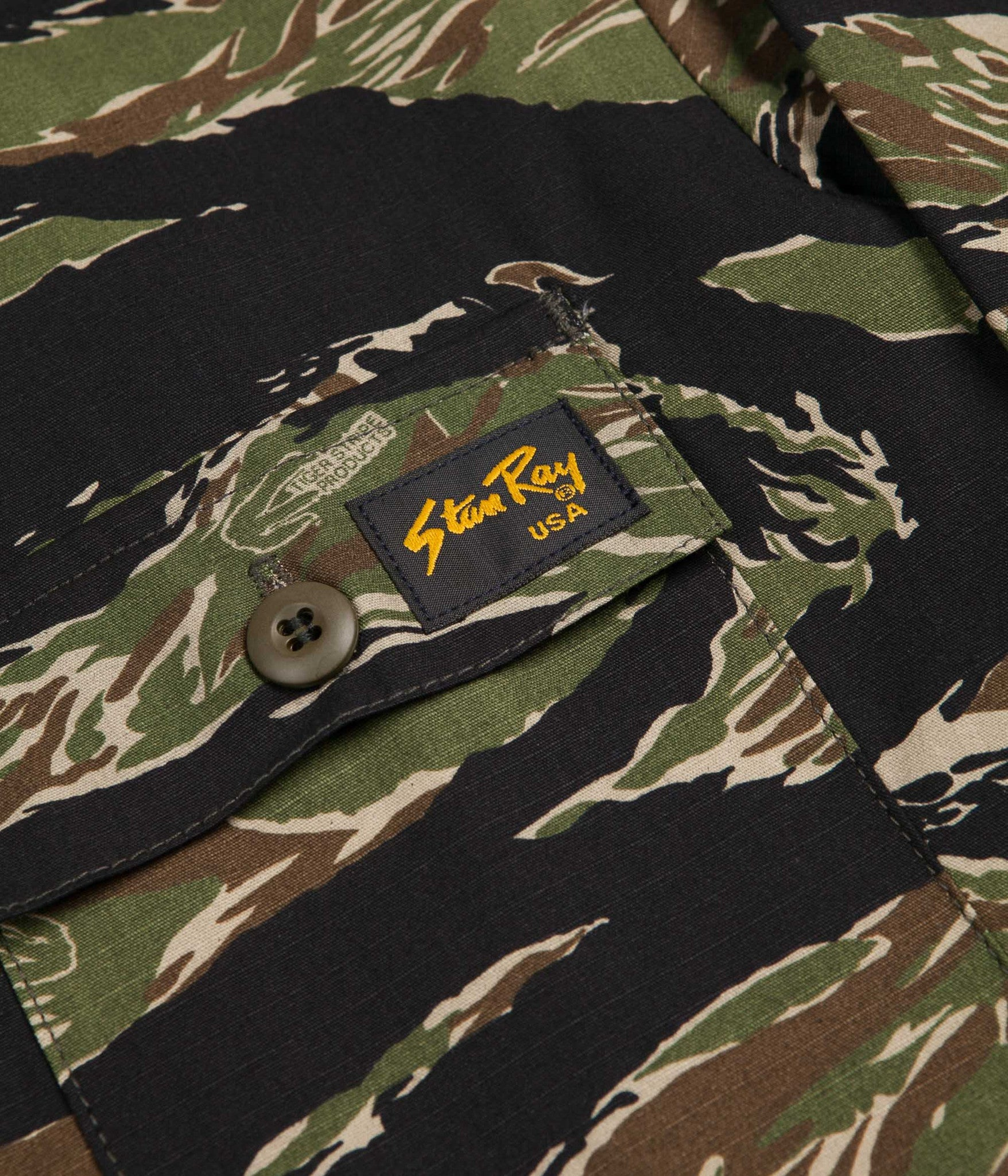 Stan Ray Four Pocket Military Jacket - Tiger Stripe Ripstop
