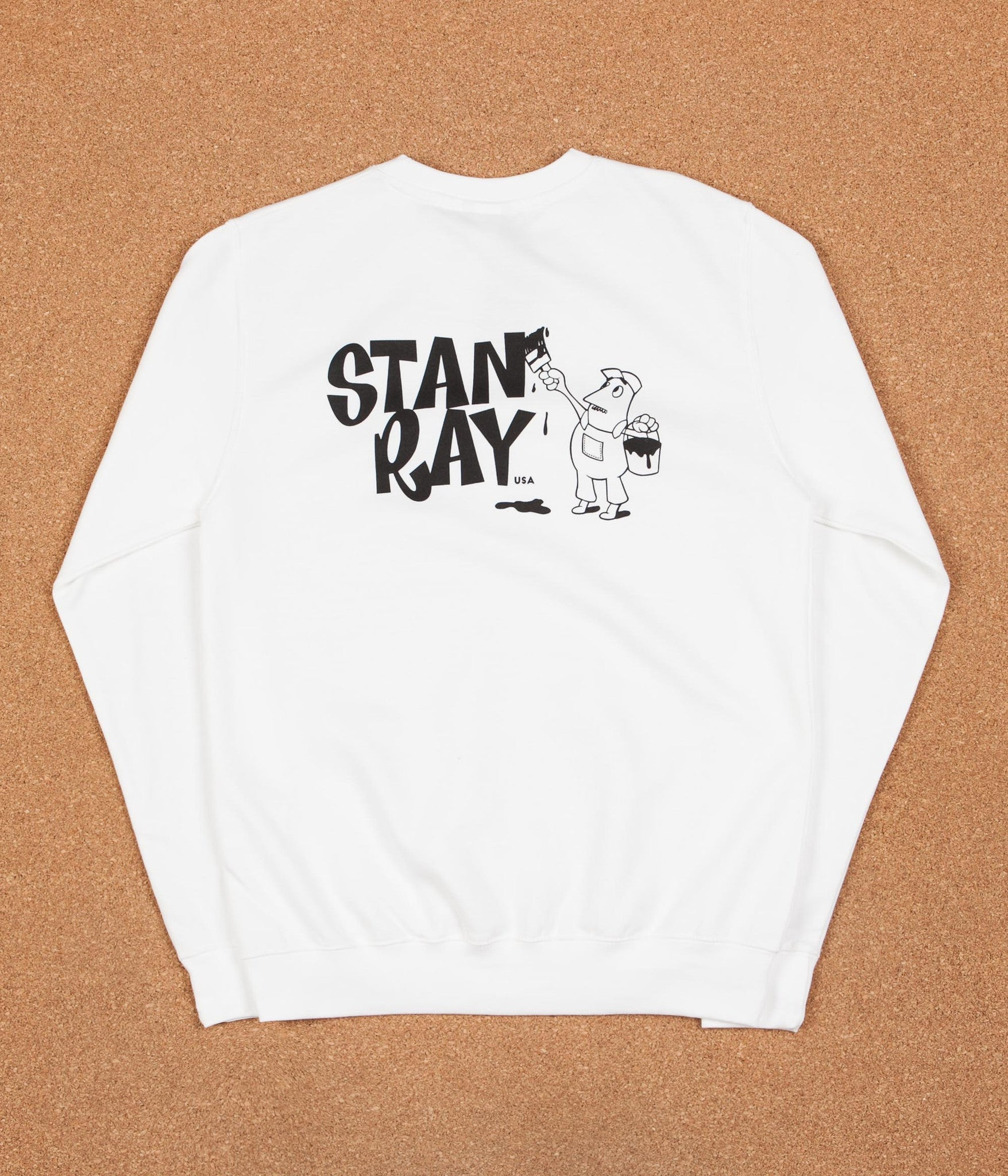 Stan Ray Painter Crewneck Sweatshirt - White