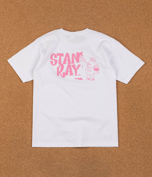 Stan Ray Painter T-Shirt - Pink / White