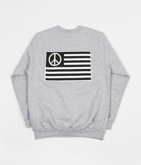 Stan Ray Peace Stripe Crewneck Sweatshirt - Grey