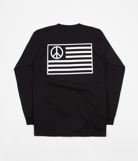Stan Ray Peace Stripe Long Sleeve T-Shirt - Black