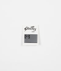 Stan Ray Peace Stripe Pin Badge - Black / White
