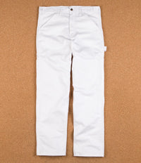 Stan Ray Single Front Painter Pant Trousers - White
