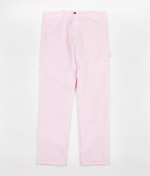 Stan Ray Single Knee Painter Pant Trousers - Pink Rose Overdye