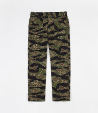 Stan Ray Slim Fit 4 Pocket Fatigue Trousers - Green Tigerstripe Ripstop