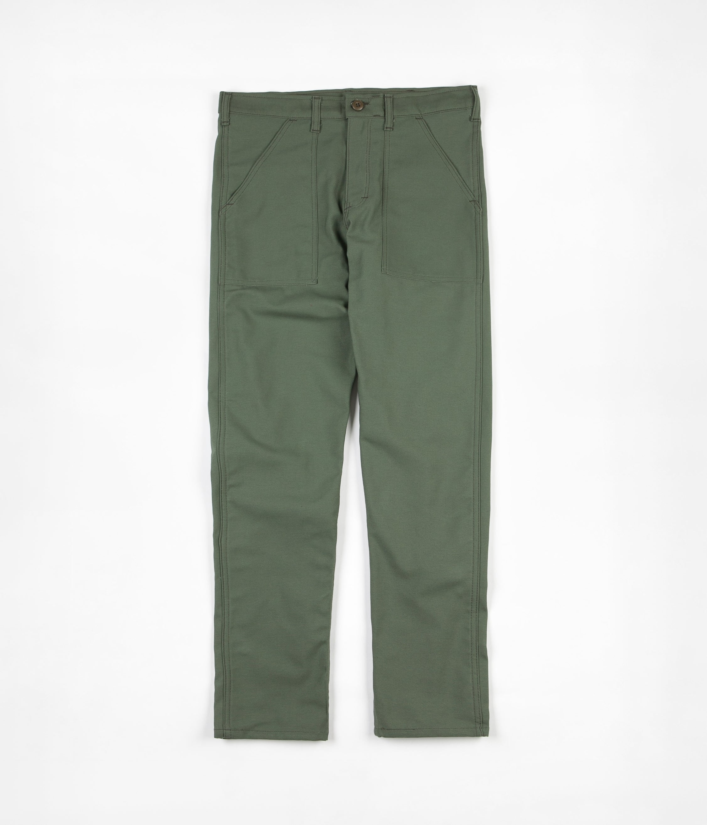stan-ray-slim-fit-4-pocket-fatigue-trousers-olive-sateen-1 9e97455f-f2c7-4f95-a7e4-8f93f933572c.jpg v 1535627201 387cf5f8573b0