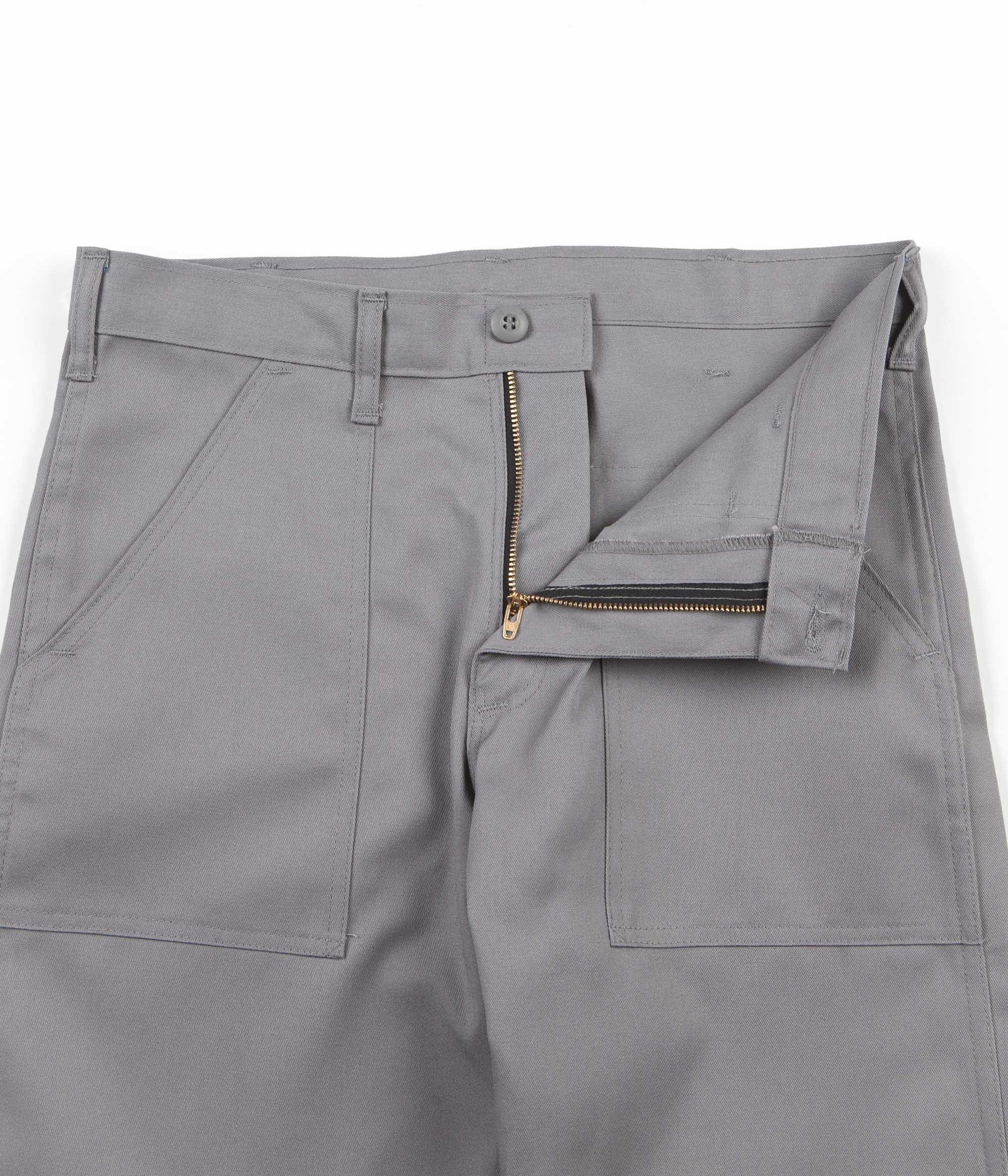 Stan Ray Slim Fit 4 Pocket Fatigue Trousers - Prison Grey