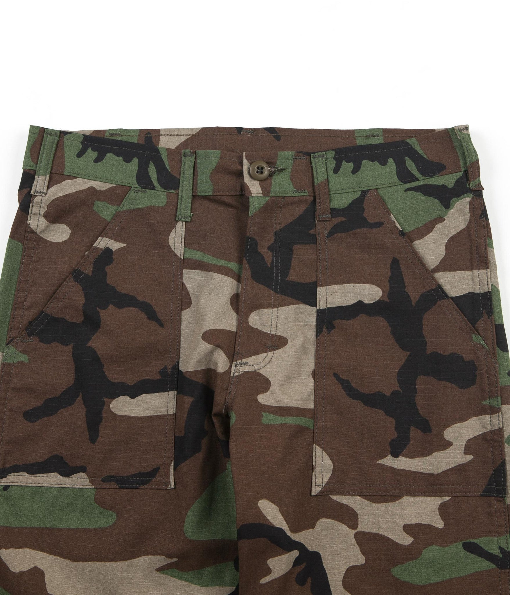 Stan Ray Slim Fit 4 Pocket Fatigue Trousers - Woodland Camo