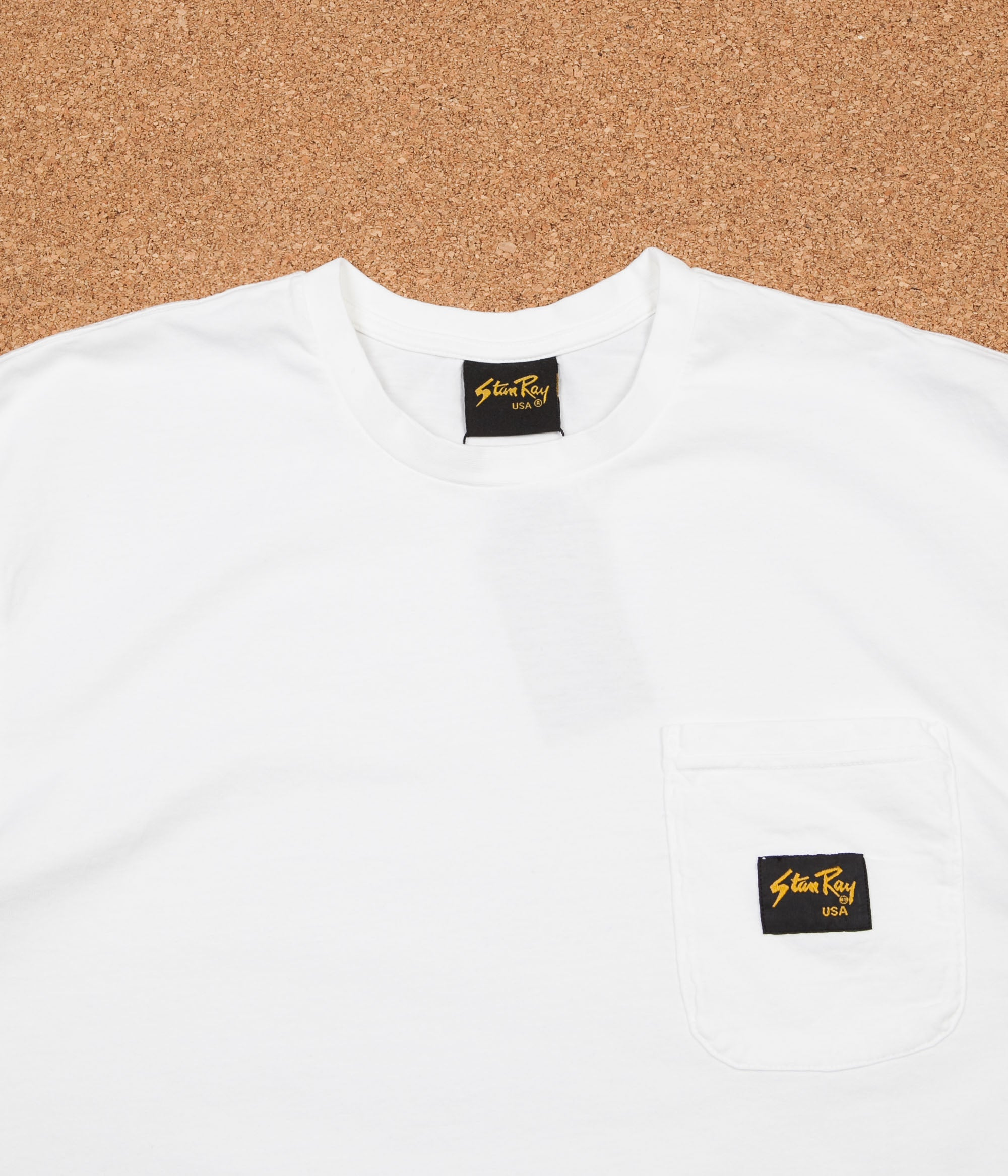 Stan Ray Stan Patch Pocket T-Shirt - White PFD