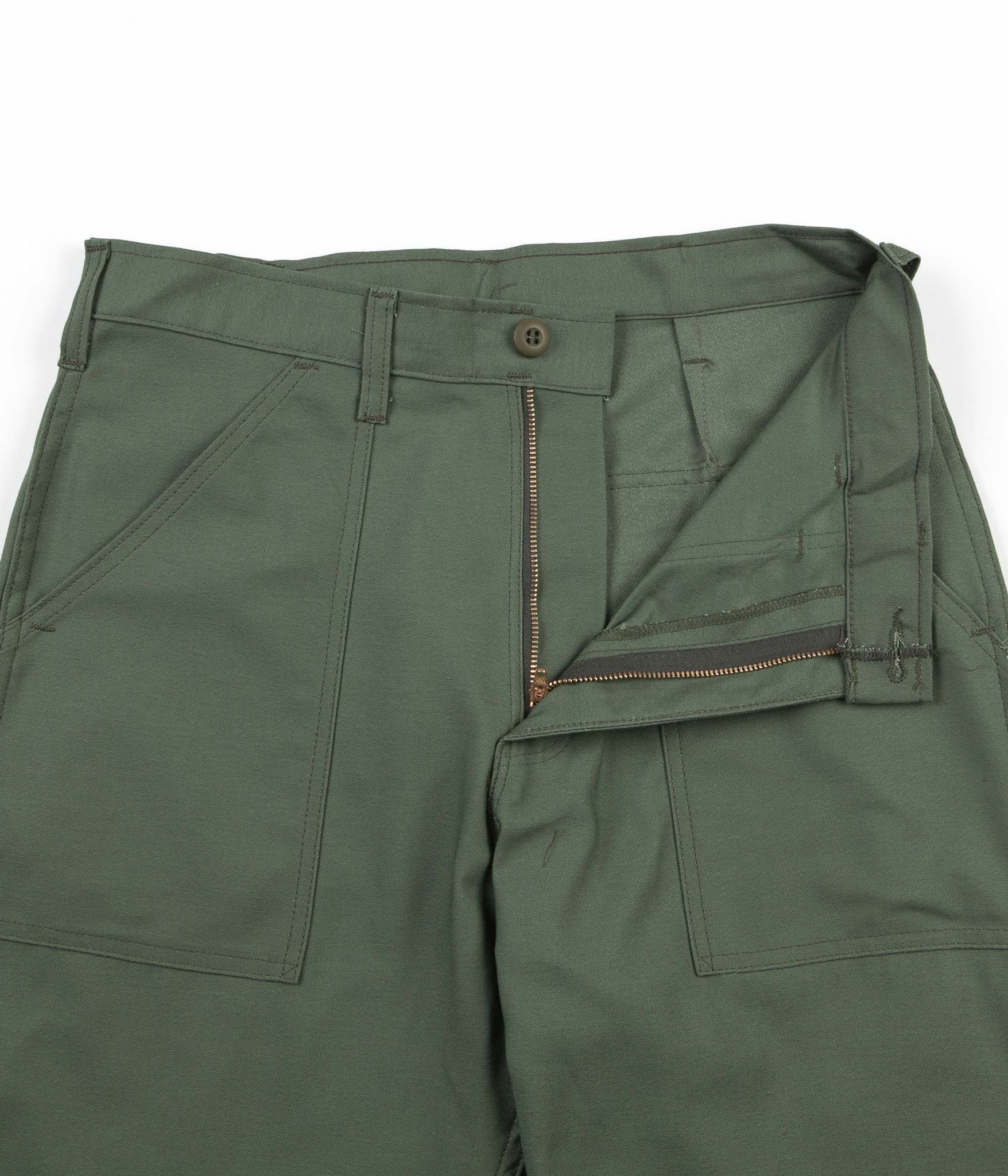Stan Ray Taper Fit 4 Pocket Fatigue Trousers - Olive Sateen