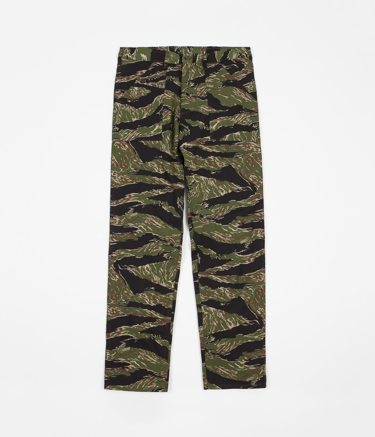 Stan Ray Taper Fit 4 Pocket Fatigue Trousers - Green Tigerstripe Ripstop