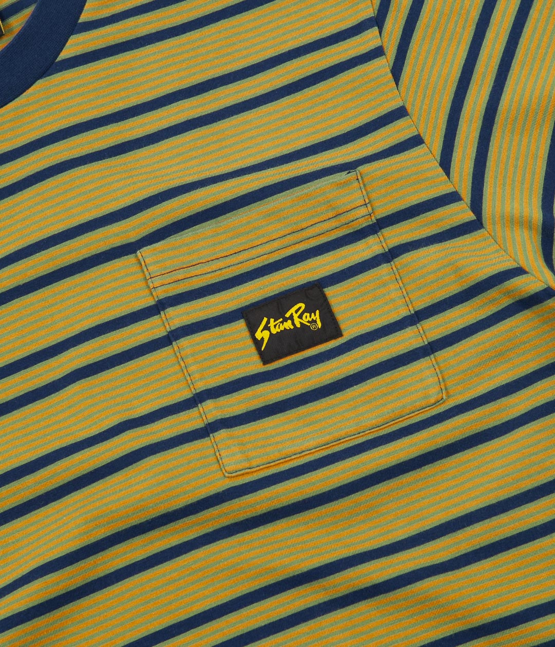 Stan Ray Yarn Dye Stripe Narrow T-Shirt - Navy