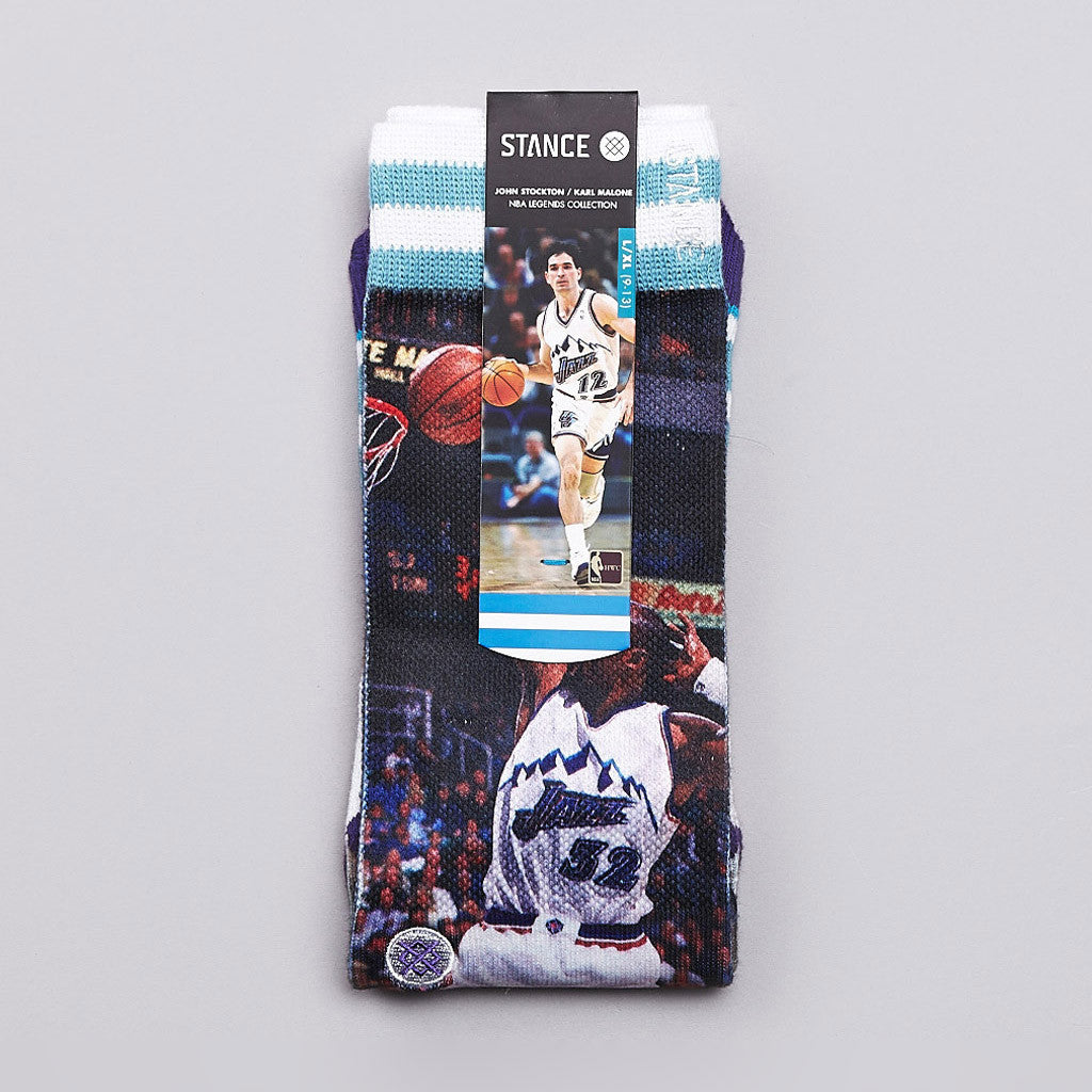 Stance NBA Legends Stockman / Malone Socks Jazz
