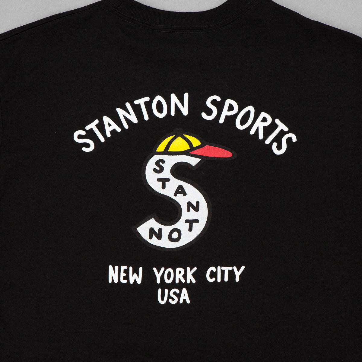 Stanton Street Sports Cap Long Sleeve T-Shirt - Black