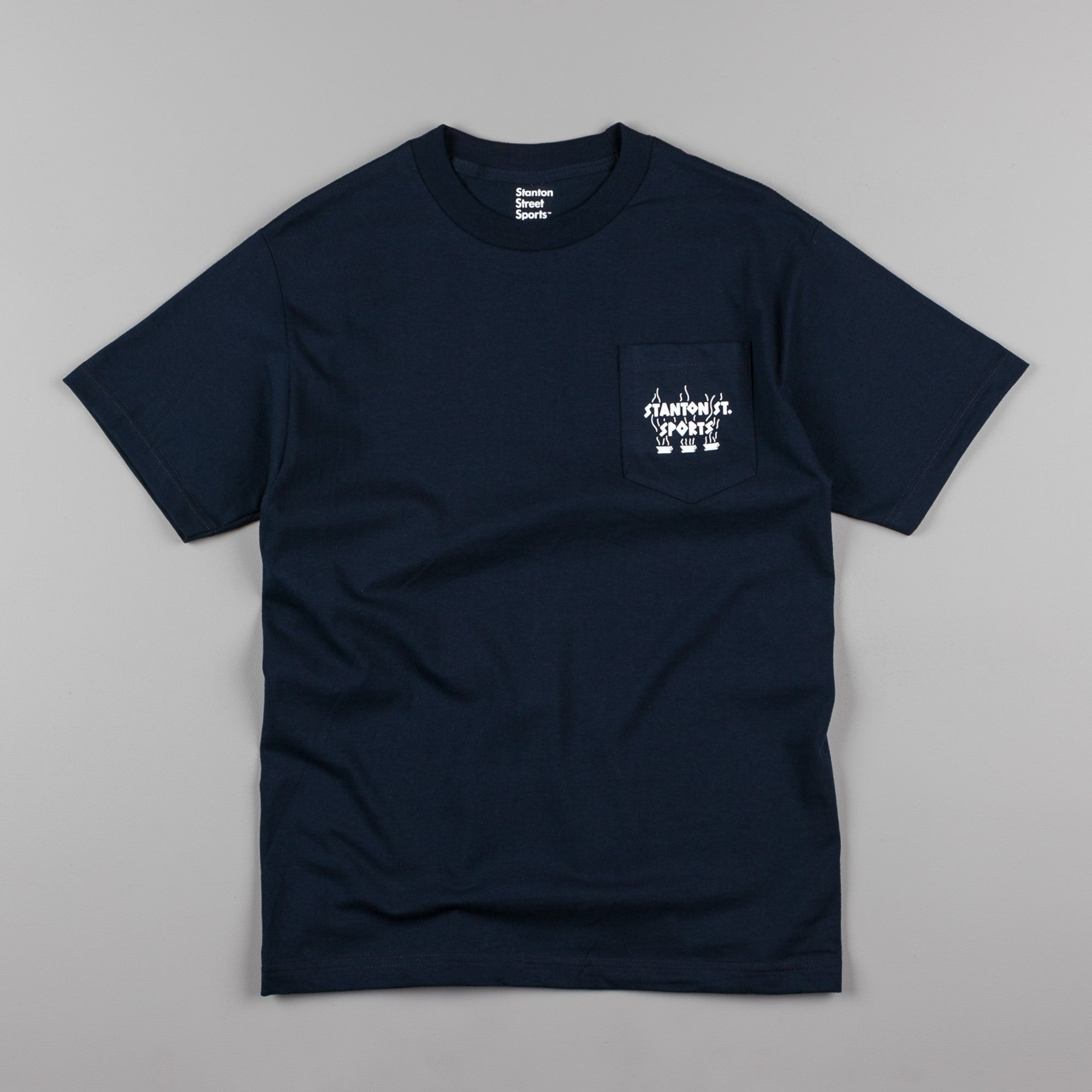 Stanton Street Sports Coffee Pocket T-Shirt - Navy
