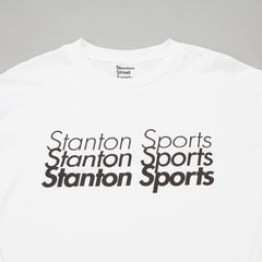 Stanton Street Sports Fade Long Sleeve T-Shirt - White
