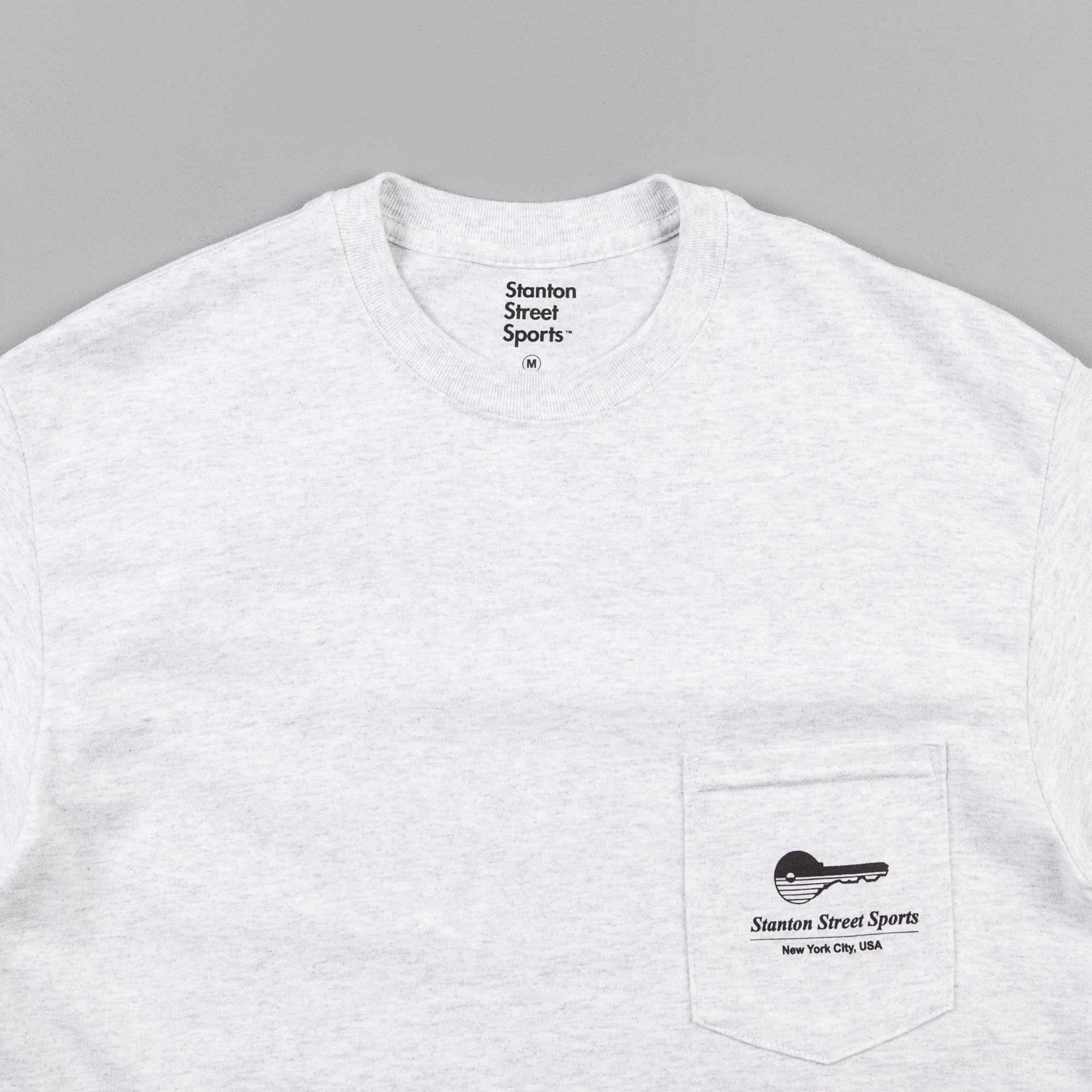 Stanton Street Sports Locksmith Pocket T-Shirt - Ash Grey
