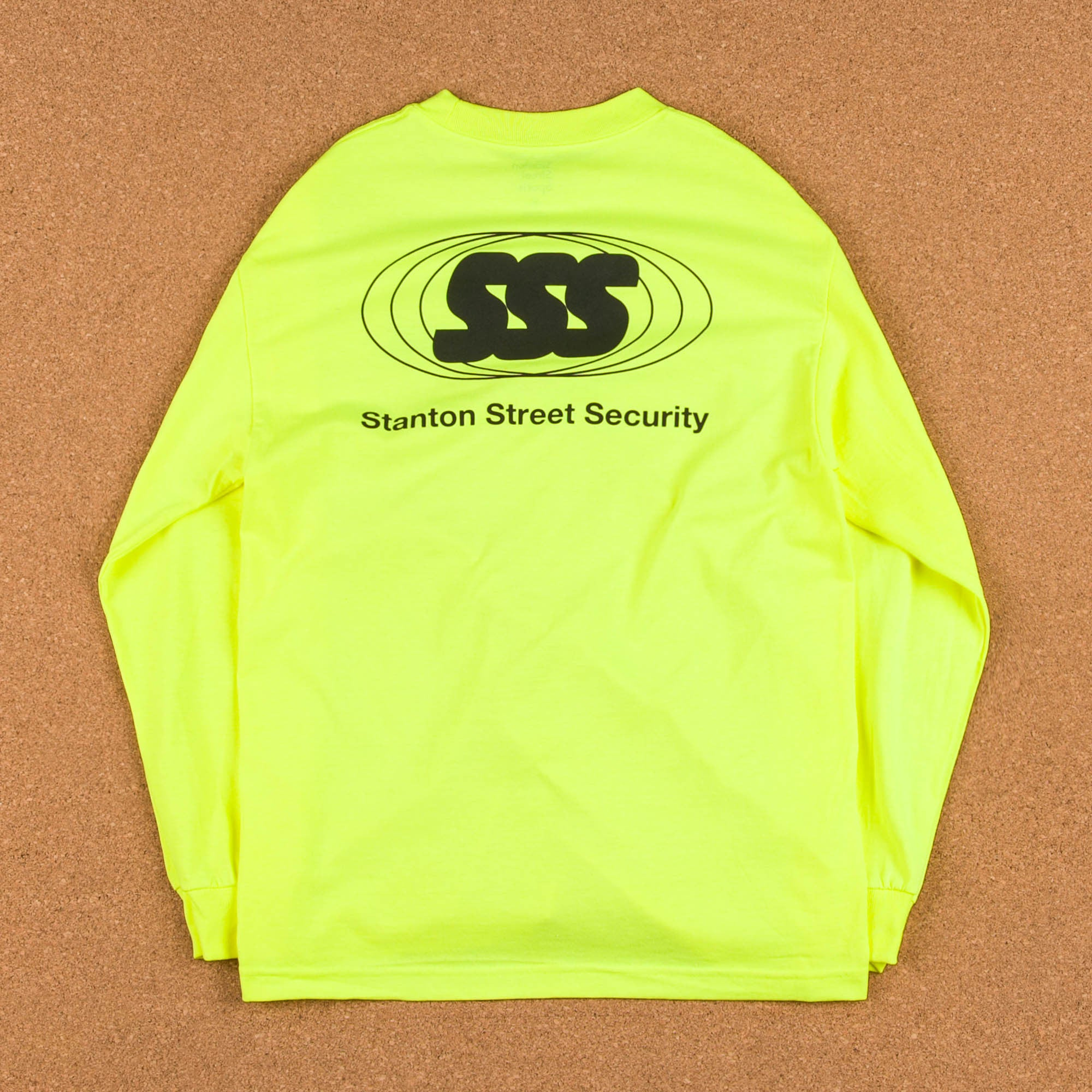 Stanton Street Sports Security Long Sleeve T-Shirt - Safety Yellow