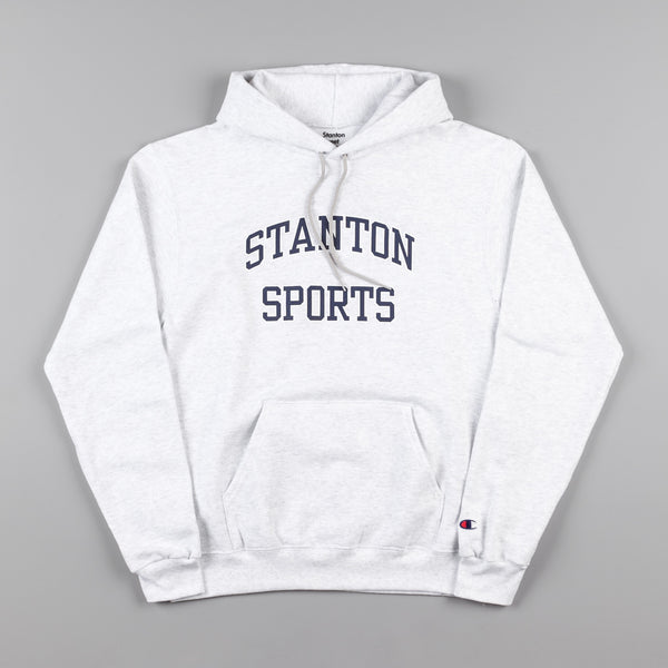 Stanton Street Sports Varsity Hooded Sweatshirt - Ash Grey