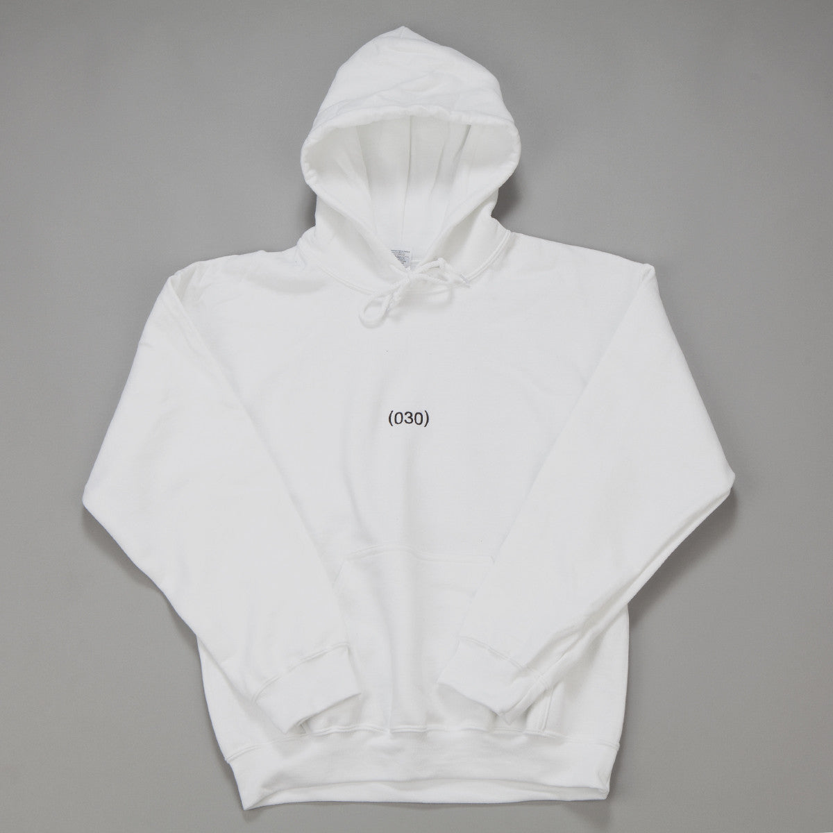 (030) Hooded Sweatshirt - White