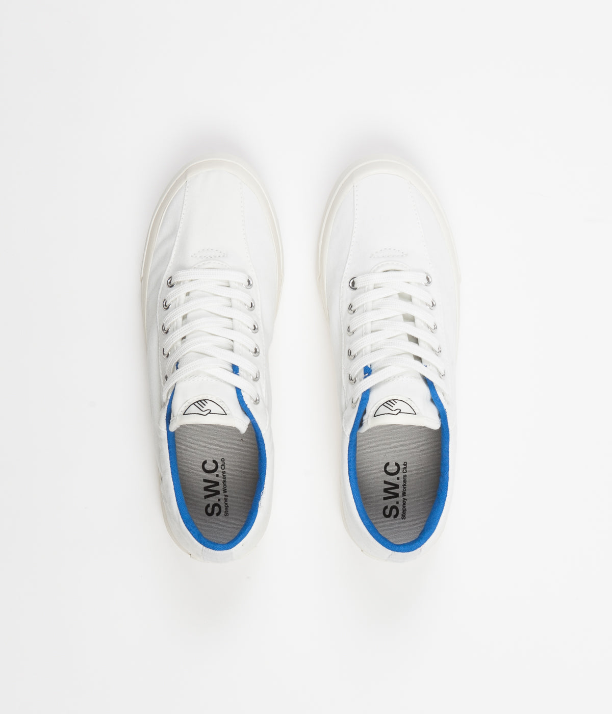 Stepney Workers Club Dellow Canvas Shoes - White / Blue