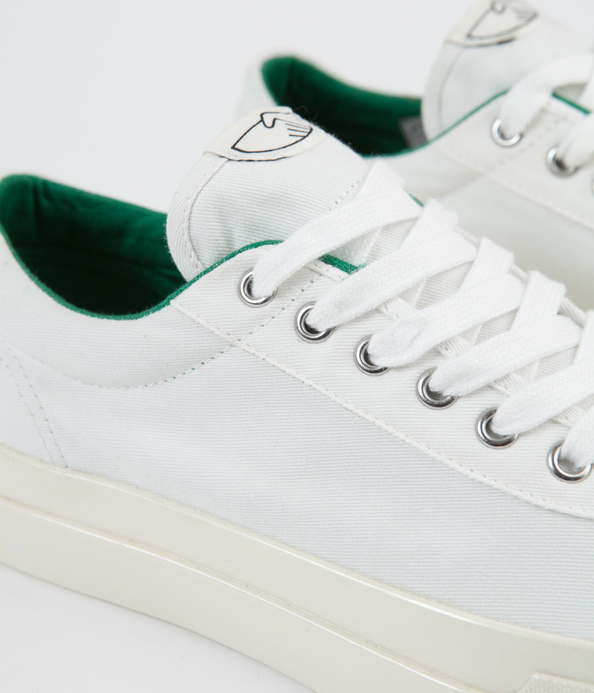 Stepney Workers Club Dellow Canvas Shoes - White / Green