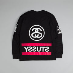 Stussy 1980 Stripe L/S T-Shirt Black