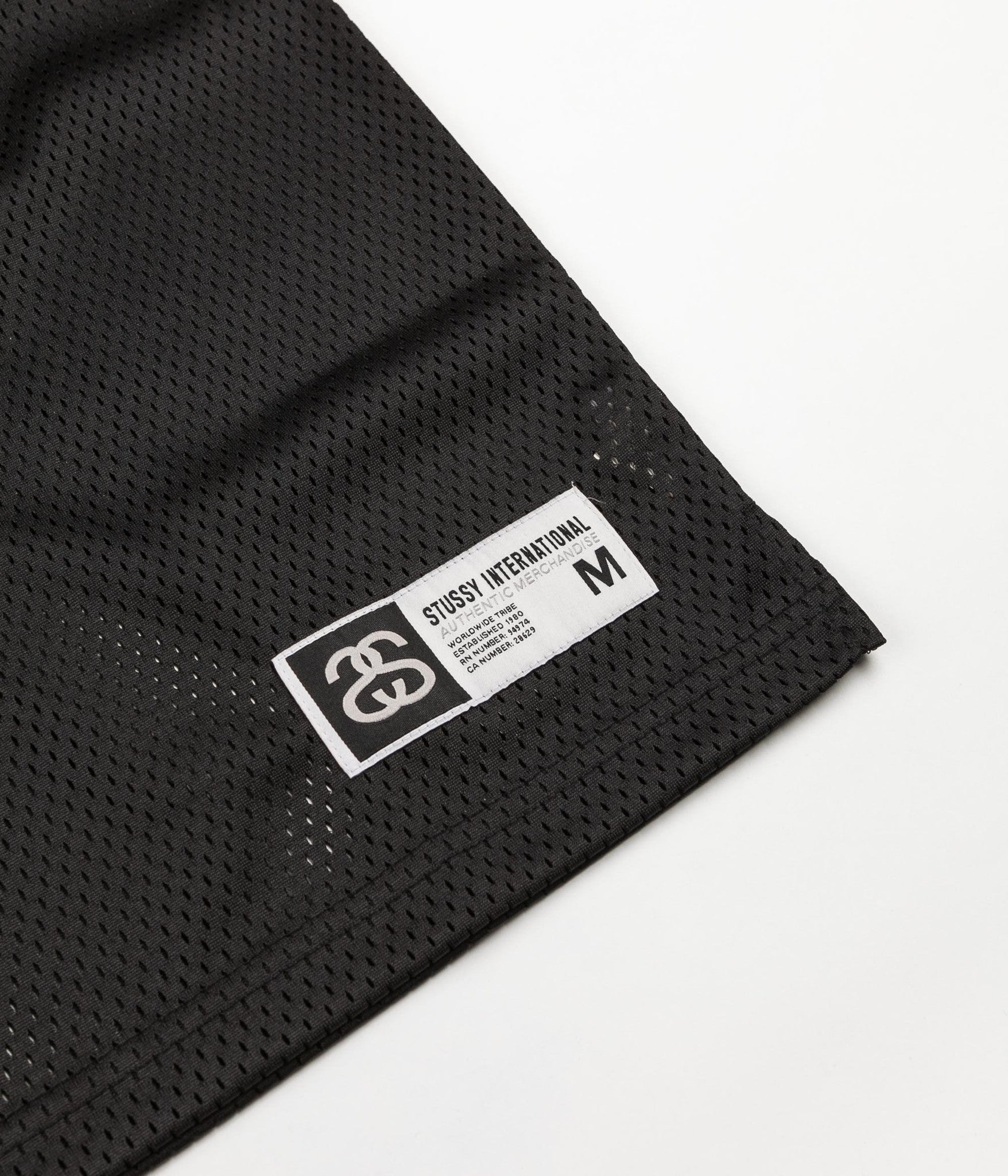 Stussy 35 Football Mesh Short Sleeve Jersey - Black