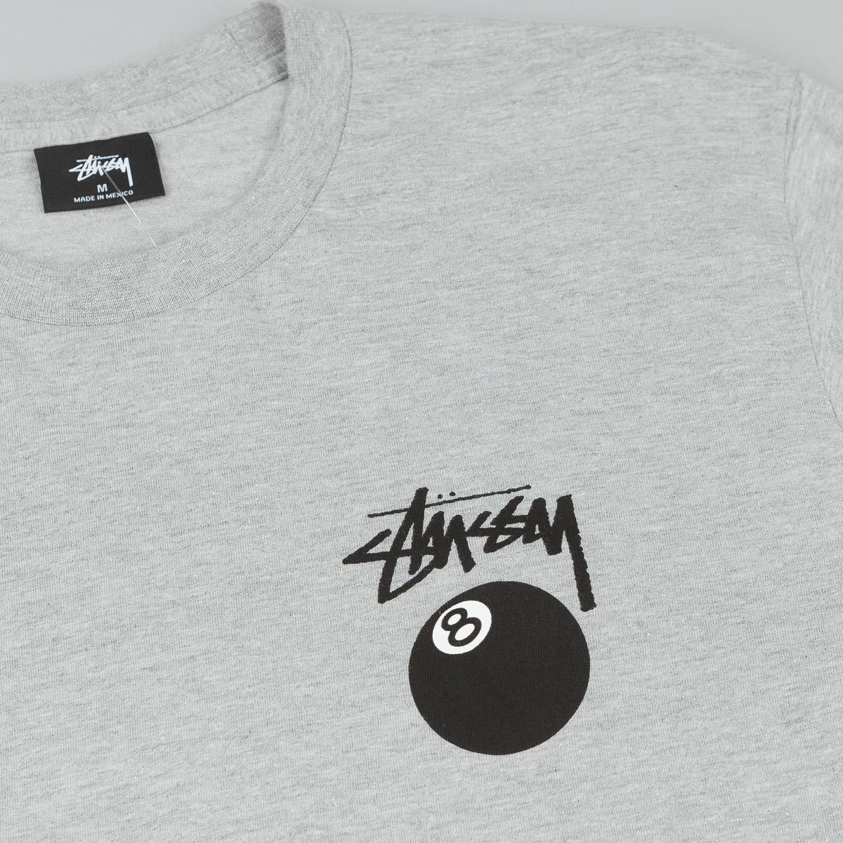 Stussy 8 Ball Long Sleeve T-Shirt - Grey Heather