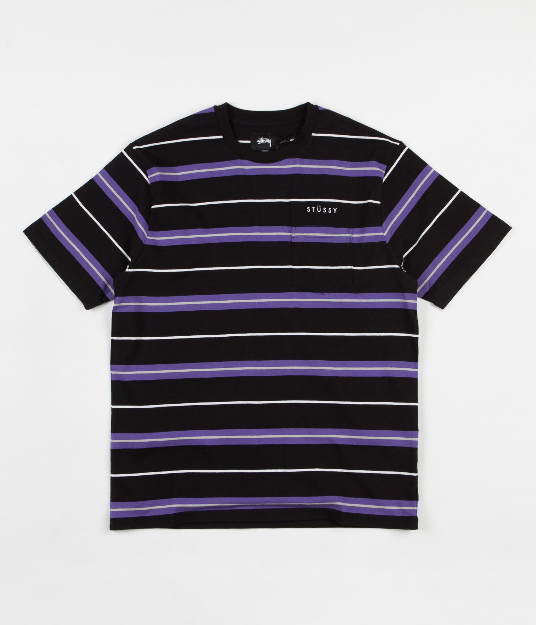 Stussy Alex Stripe T-Shirt - Black