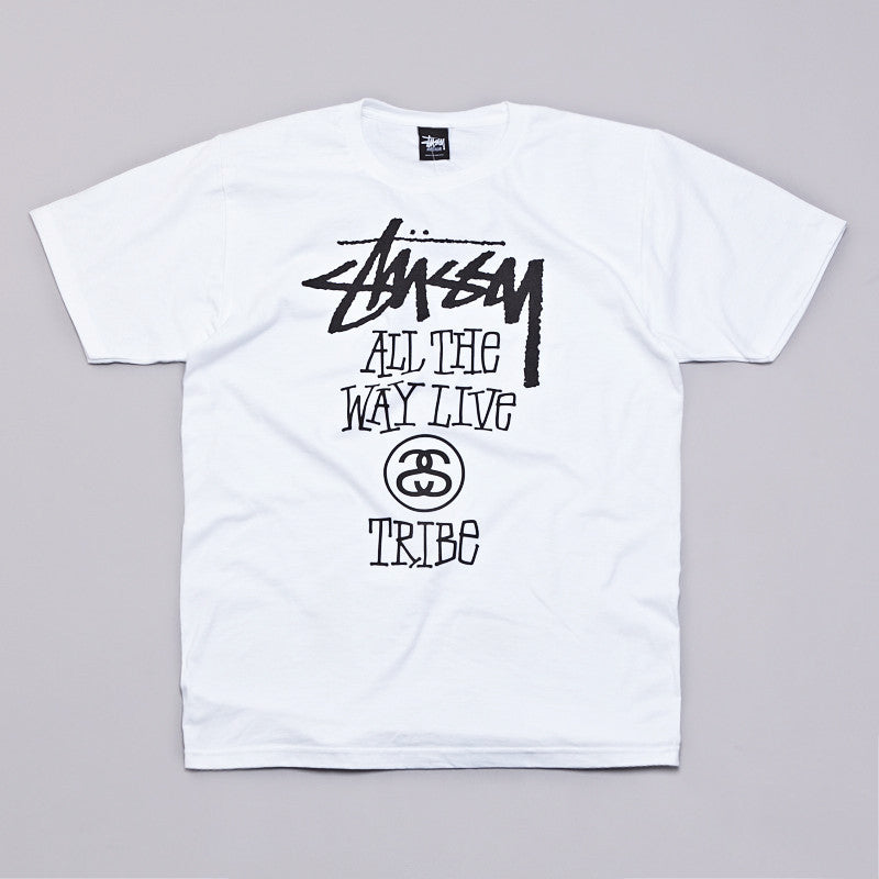 Stussy All The Way Live T Shirt White