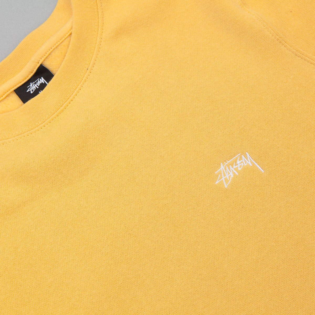 Stussy Back Arc Crewneck Sweatshirt - Faded Yellow
