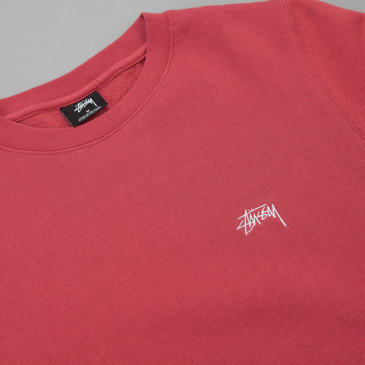 Stussy Back Arc Crewneck Sweatshirt - Salmon