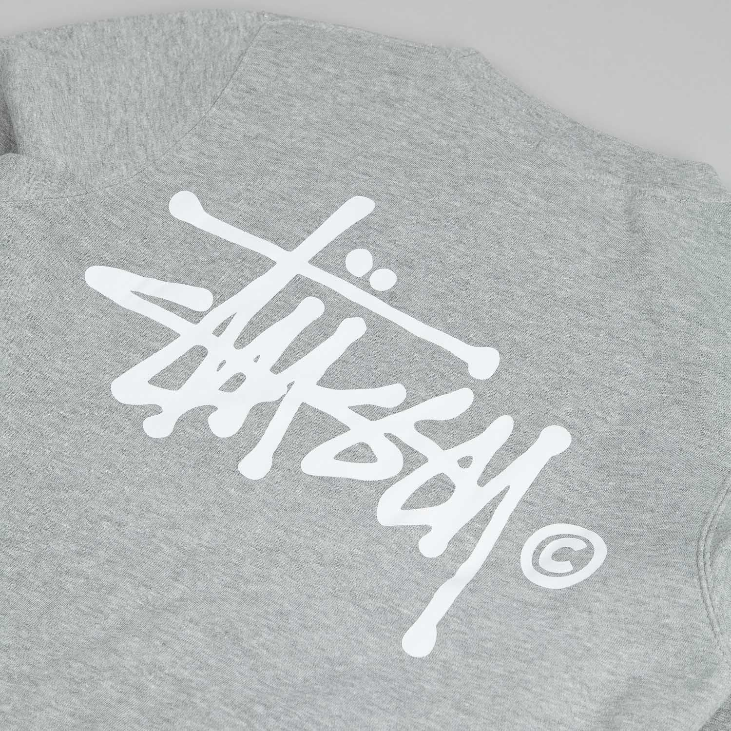 Stussy Basic Logo Crew Neck Sweatshirt Grey Heather