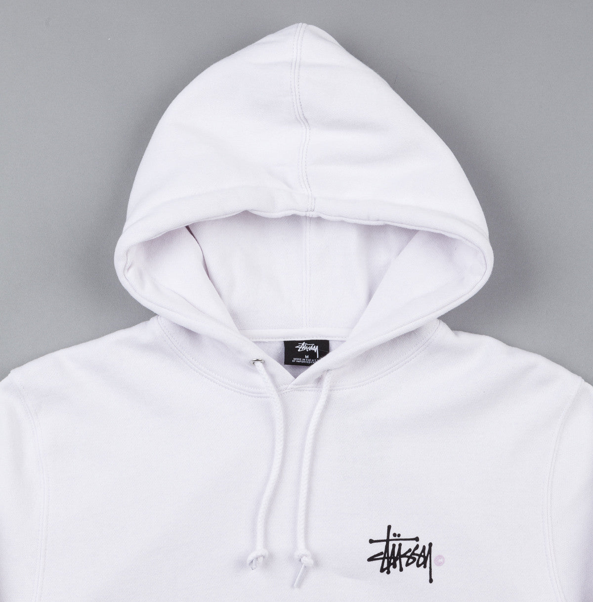 Stussy Basic Logo Hooded Sweatshirt - White