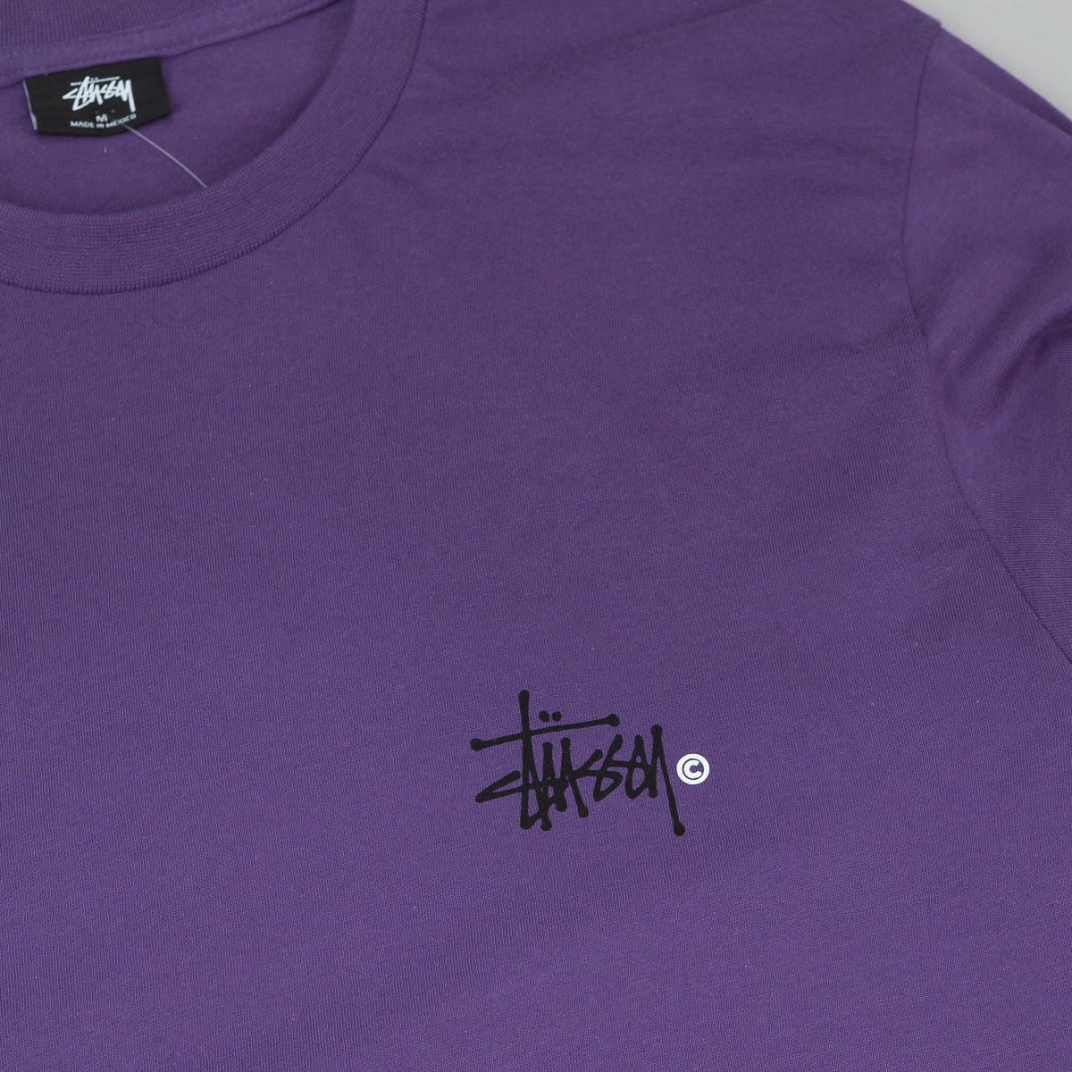 Stussy Basic Logo Long Sleeve T-Shirt - Purple