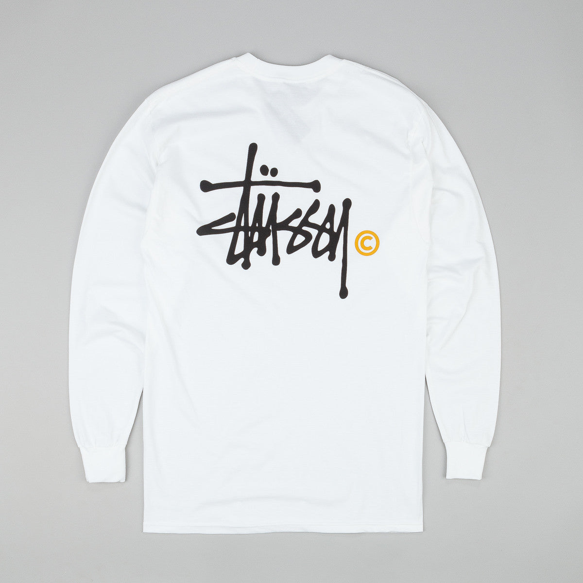 Stussy Basic Logo Long Sleeve T-Shirt - White