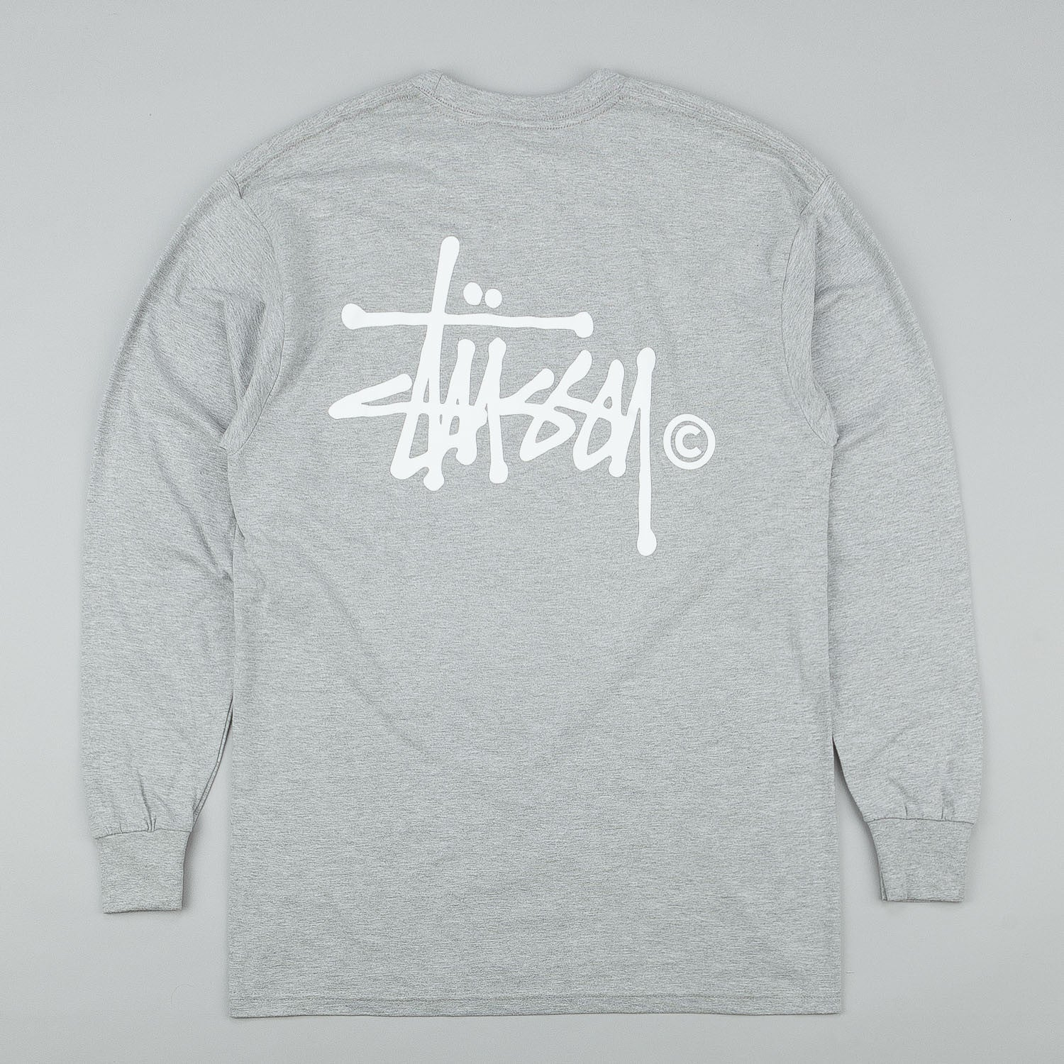 Stussy Basic Logo L/S T-Shirt Grey Heather