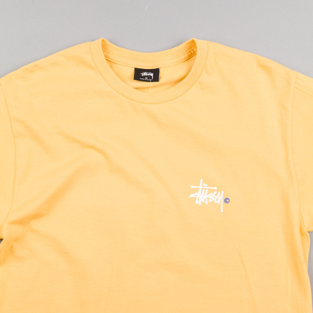 Stussy Basic Logo T-Shirt - Faded Yellow