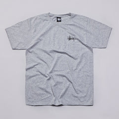 Stussy Basic Logo T Shirt Heather Grey