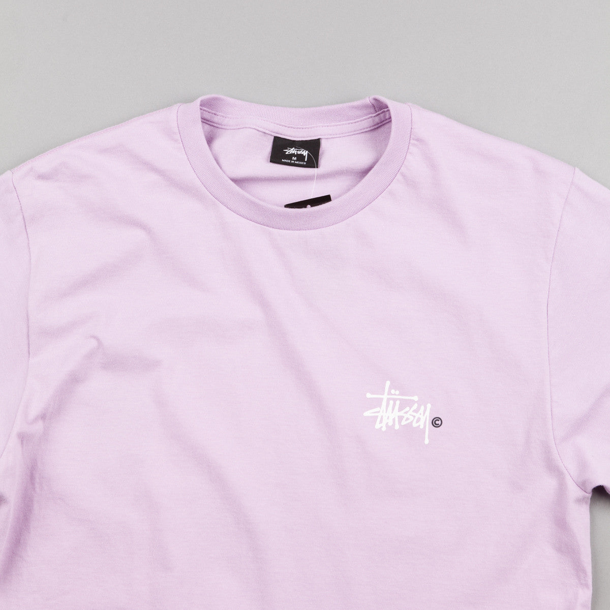 Stussy Basic Logo T-Shirt - Light Purple