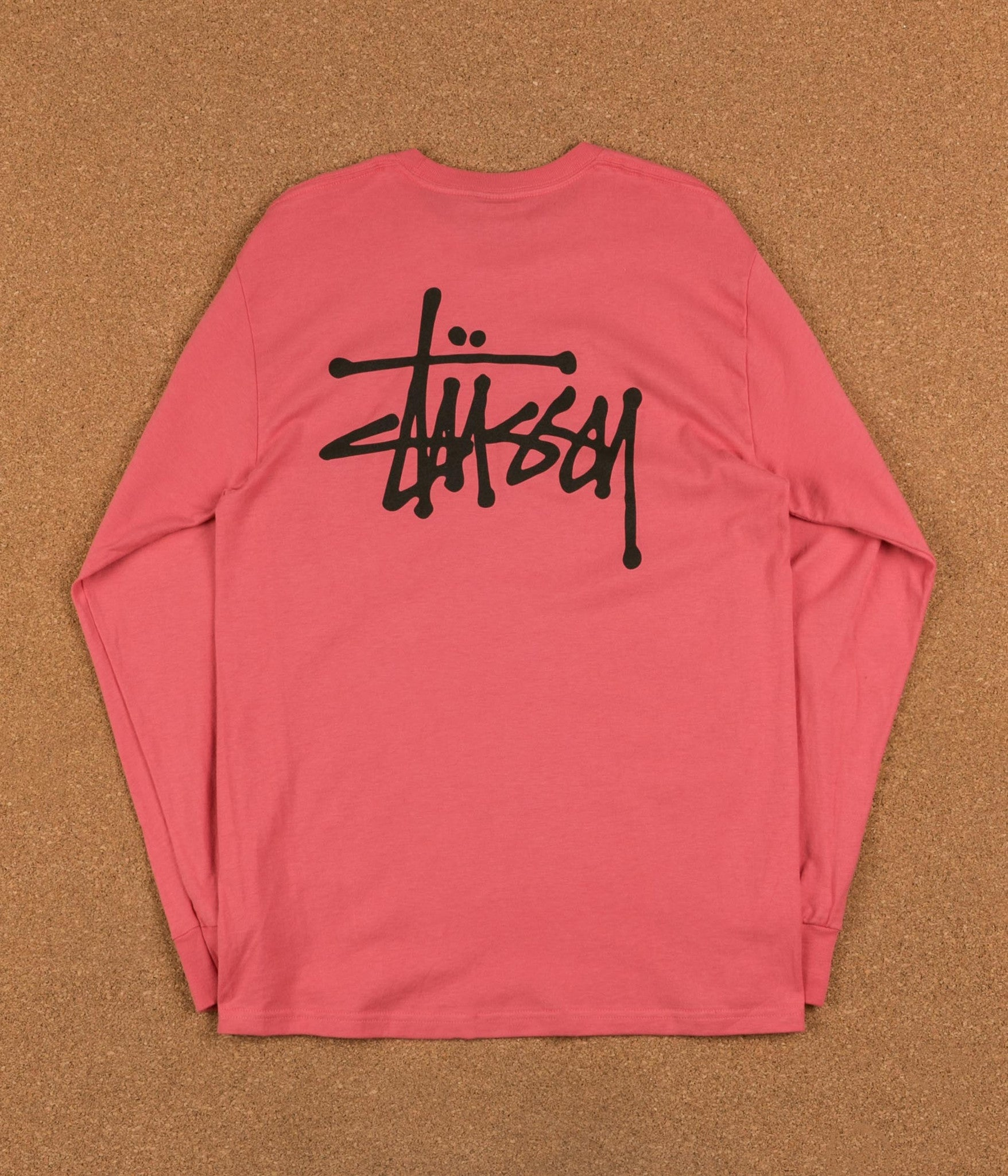 Stussy Basic Long Sleeve T-Shirt - Dark Pink