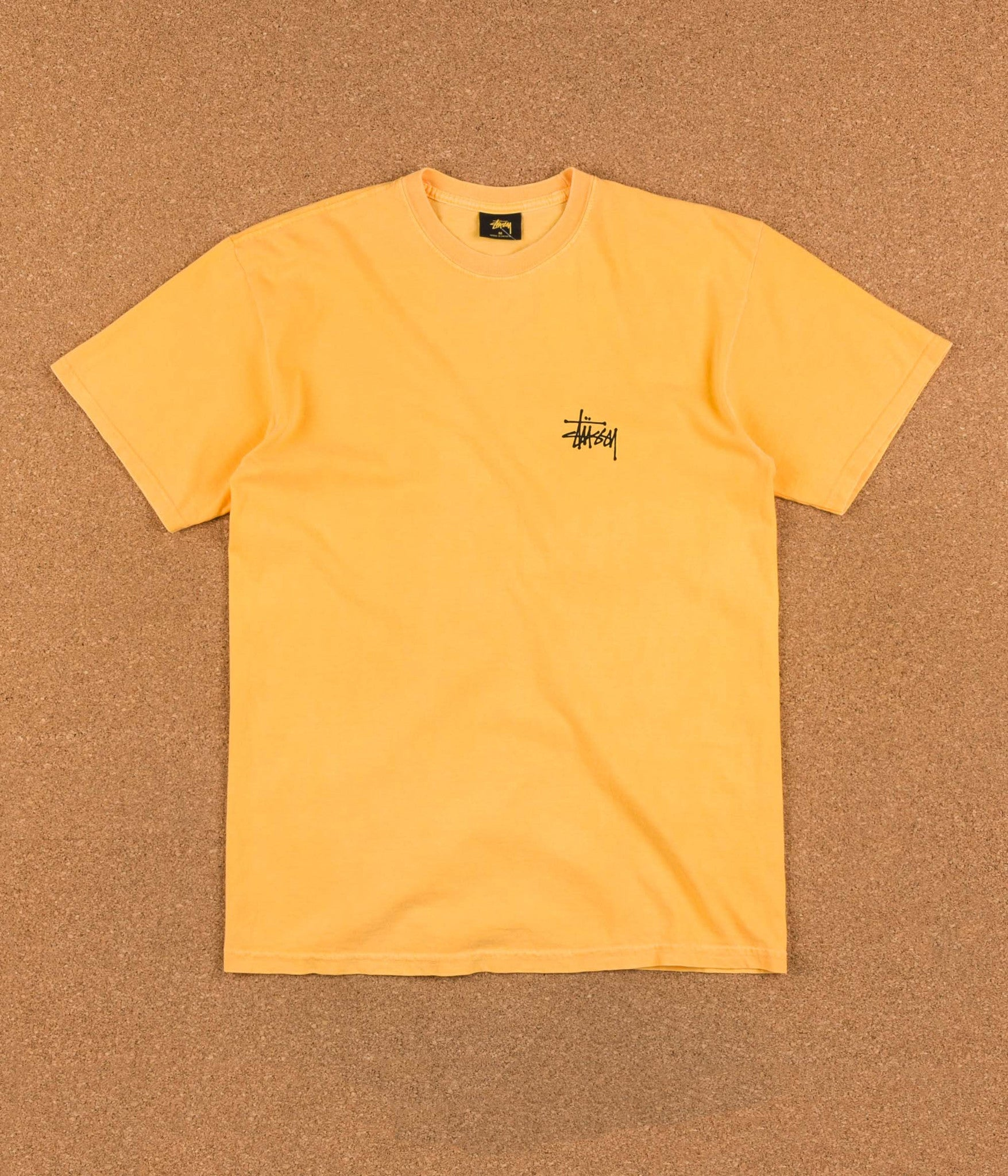 Stussy Basic Pigment Dyed T-Shirt - Faded Yellow