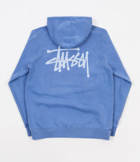 Stussy Basic Stussy Pigment Dyed Hoodie - Blue