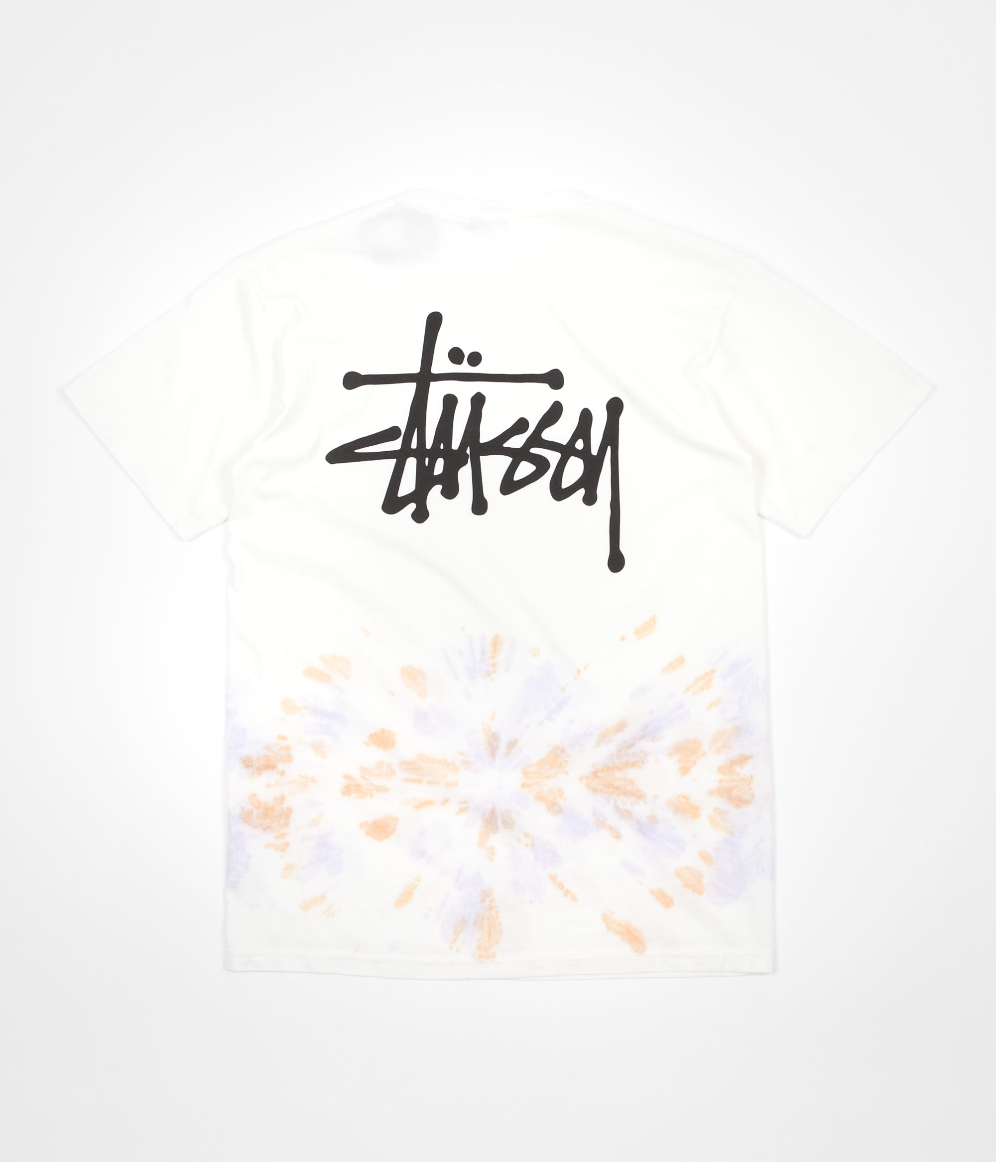 Stussy Basic Stussy Tie Dye T-Shirt - Natural / Orange