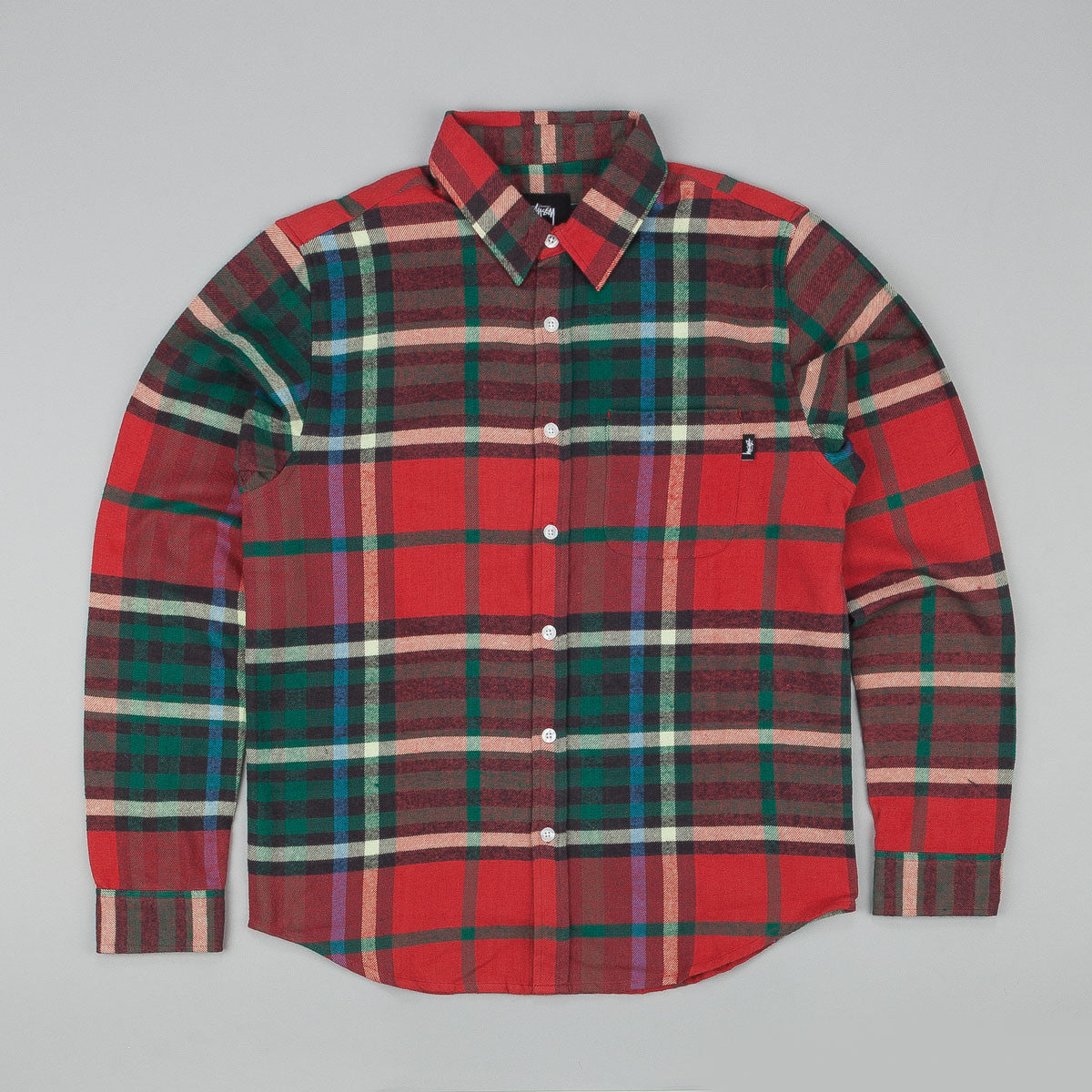 Stussy Big Plaid Long Sleeve T-Shirt